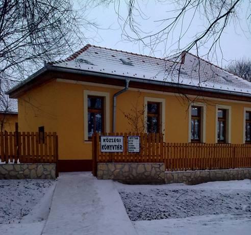 A felújított iskola- és könyvtárépület