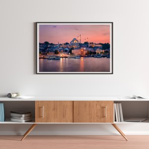 Magical Sunset In Istanbul Art Print