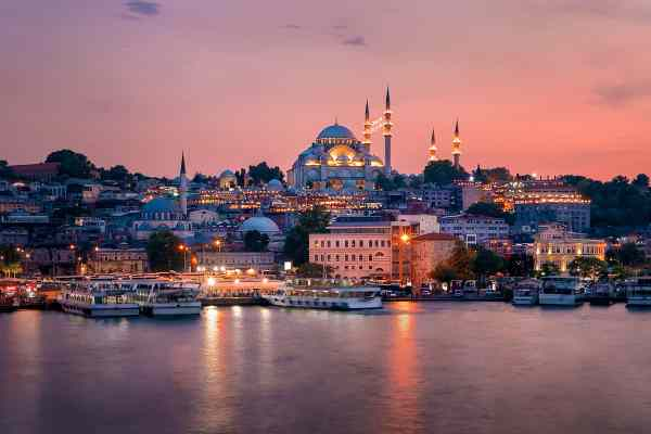Magical Sunset In Istanbul