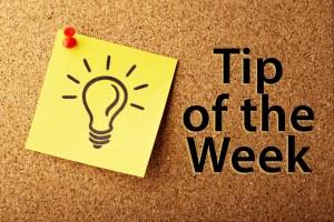 Tip of the Week Image