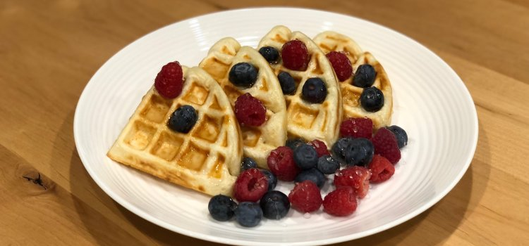 Vintage Waffle Recipe With Lemon Syrup From 1883, Quick and Delicious