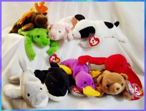 These cute and utterly addictive stuffed toys had we hook, lined and sinkered for many years. I still have them in Rubber Maid bins in my parents' basement.