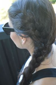 A fun and messy french braid to add to the overalls. And of course my fav Celine sunnies!