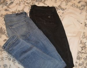Light blue, dark blue, black, grey, white, colored twill...so many denim options....