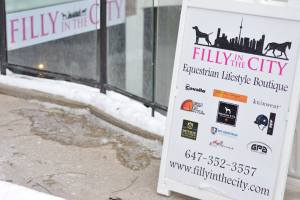 Street View of Filly in the City Storefront