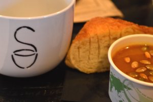 Photo of the soup and bread served at the 8th Soup Ottawa.
