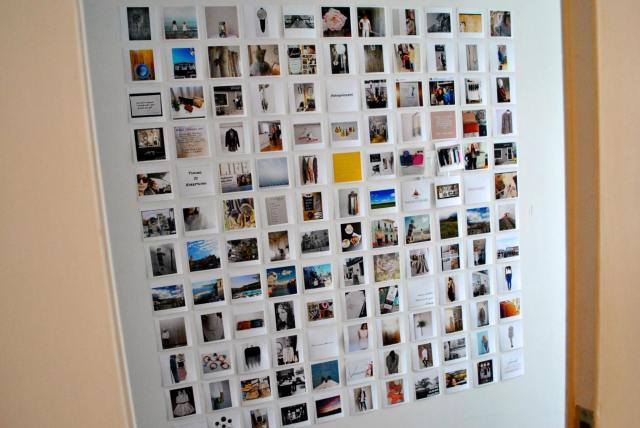 Photo collage wall of photos that all relate back to Vincent.