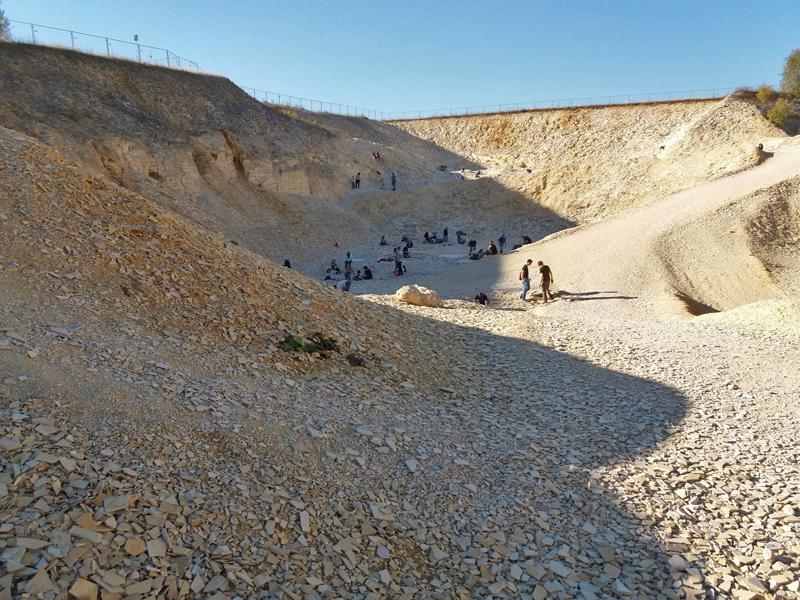 Blick in den Besuchersteinbruch Blumenberg