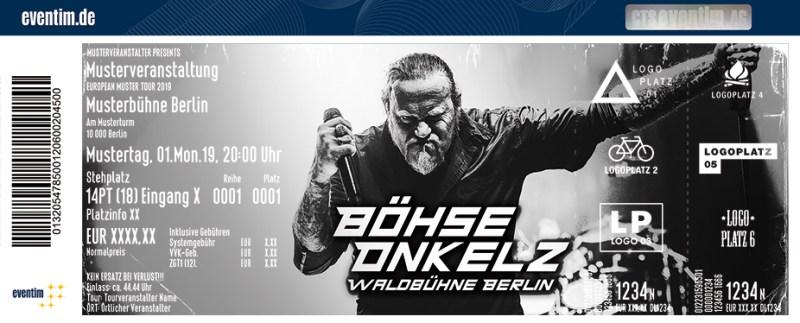 Böhse Onkelz Live Eintrittskarte