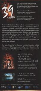 Die 39 Stufen Flyer Back