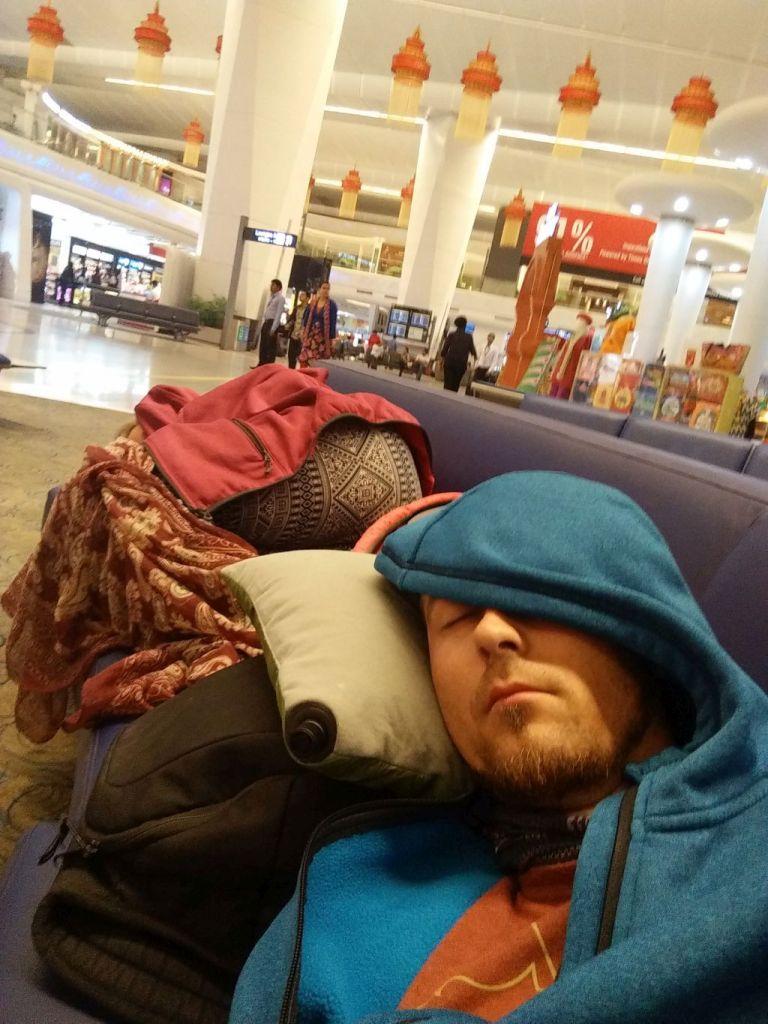 Schlafen am Flughafen