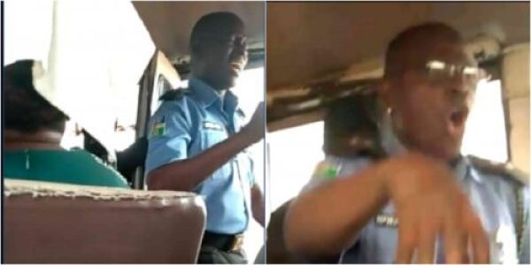 Nigerian police officer spotted preaching in public bus lailasnews 5