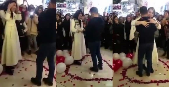 Couple Arrested After Proposing In A Shopping Mall (Video)