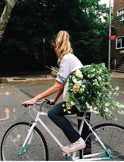 Flowers and Bike Girl