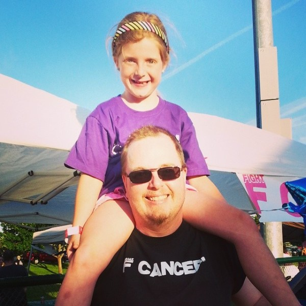 Charlotte on Daddy's Shoulders
