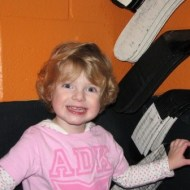Charlotte with the sticks of #16 Patrick Maroon