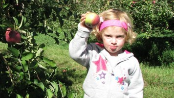 Charlotte and another good apple