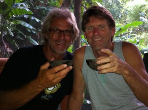 Toby and Gary Drinking Kava
