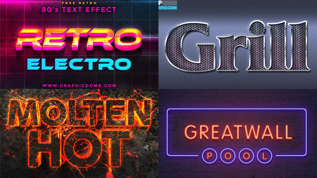Free Photoshop Text Effects of the Month - TobyFree com Records