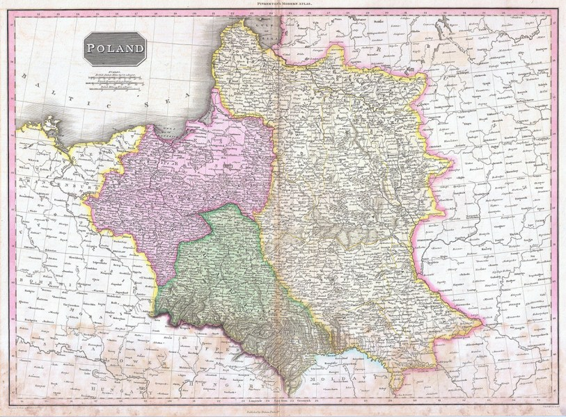 1818 Pinkerton Map of Poland     Geographicus           Tobin Family     1818 Pinkerton Map of Poland     Geographicus