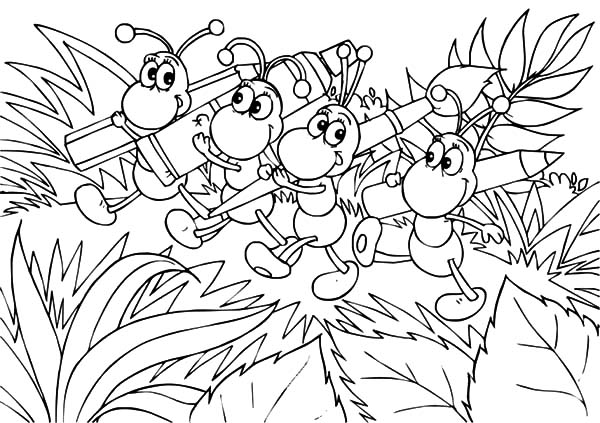 ants is going to paint coloring pages ants is going to