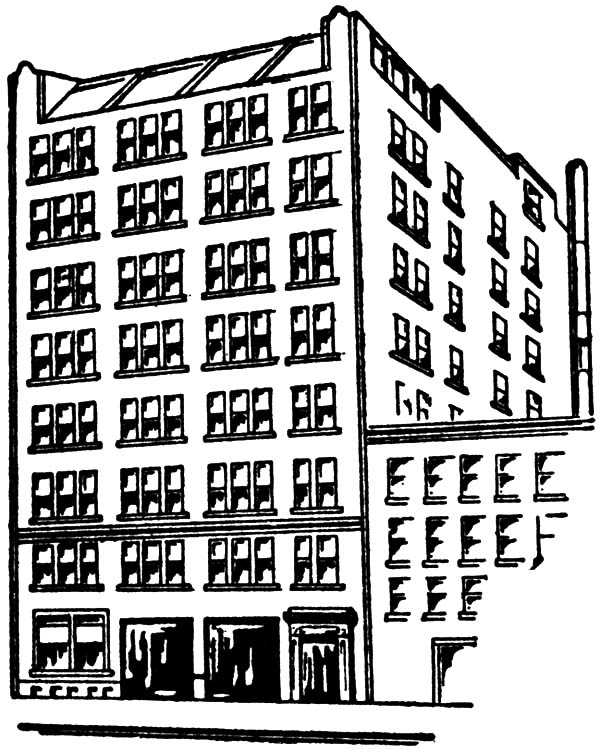 Apartment Building Coloring Pages. city apartment coloring ...