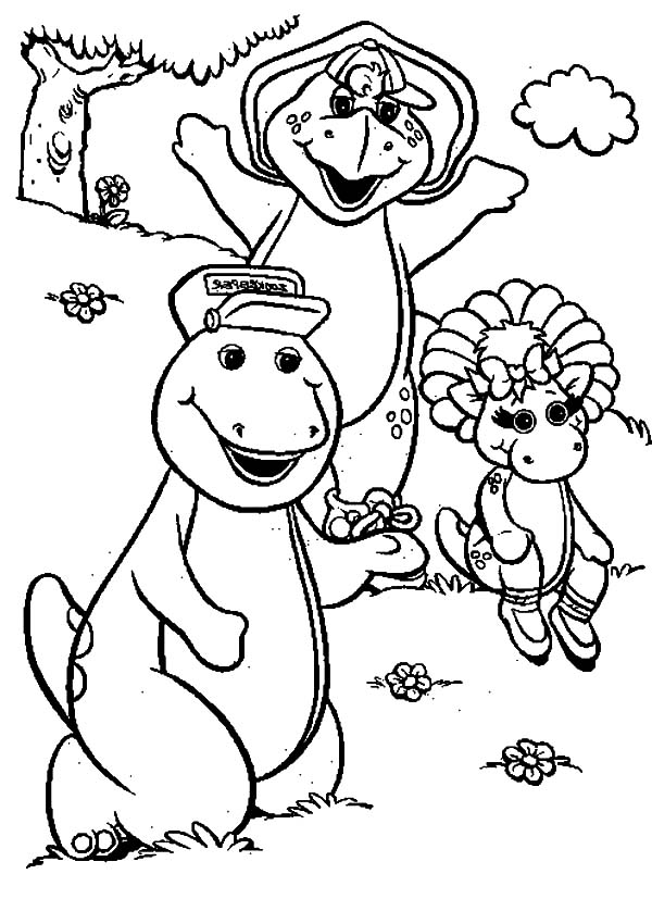 Barney and Friends coloring pages on Coloring-Book.info   827x600