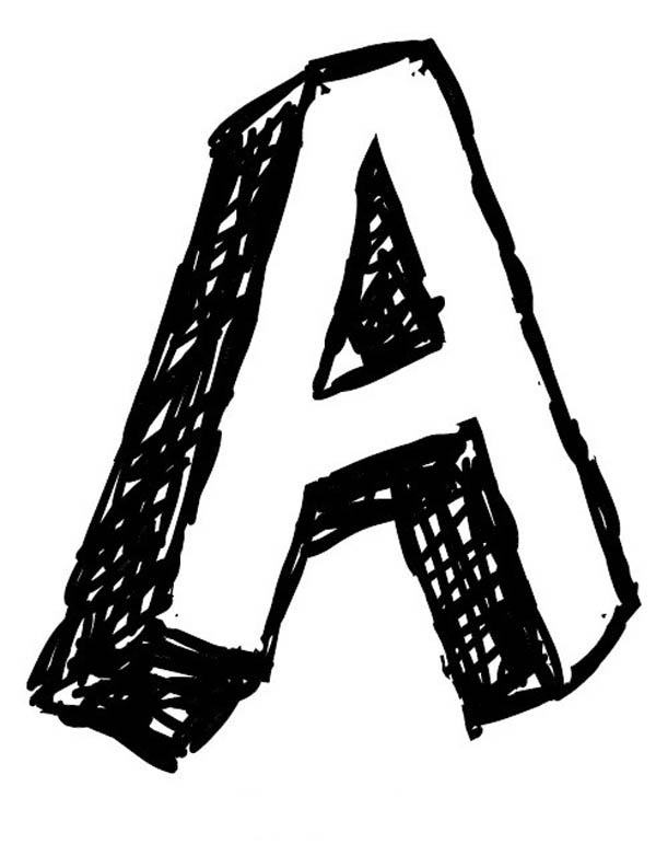 letter a big letter a coloring page big letter a coloring pagefull