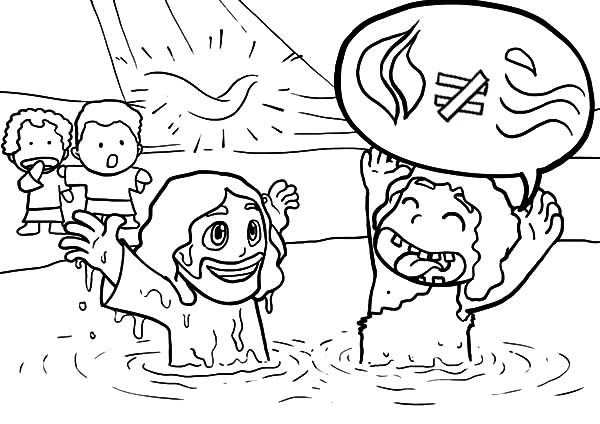 cartoon of jesus baptism coloring pages best place to color