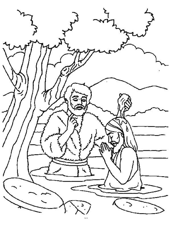 Best Coloring Pages Jesus Baptism Catholic Coloring Page Az