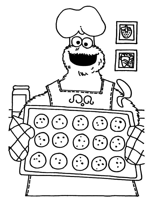 Cookie Monster Eating Cookies Coloring Pages. of om nom ...