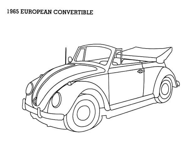1965 european convertible beetle car coloring pages best place
