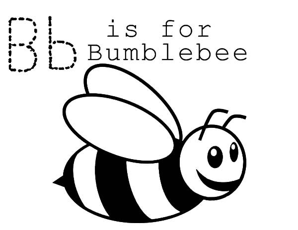 bumble bee b is for bumble bee coloring pages