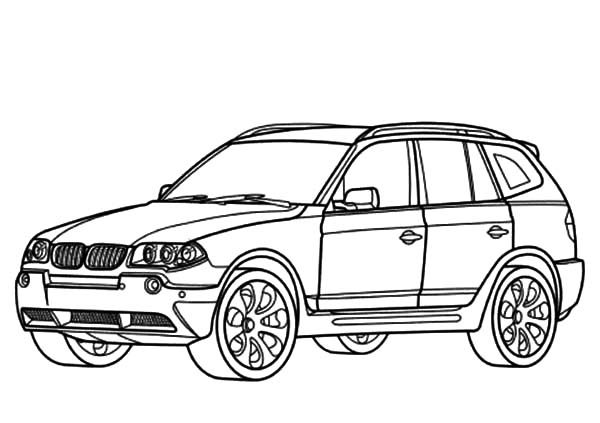 bmw car bmw car x3 type coloring pages