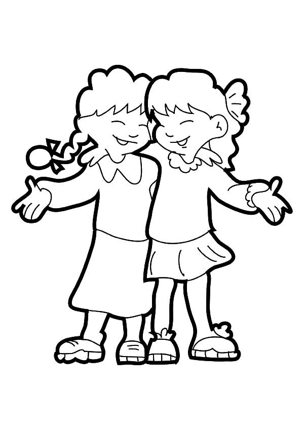 best friends coloring pages for girls bff coloring pages for