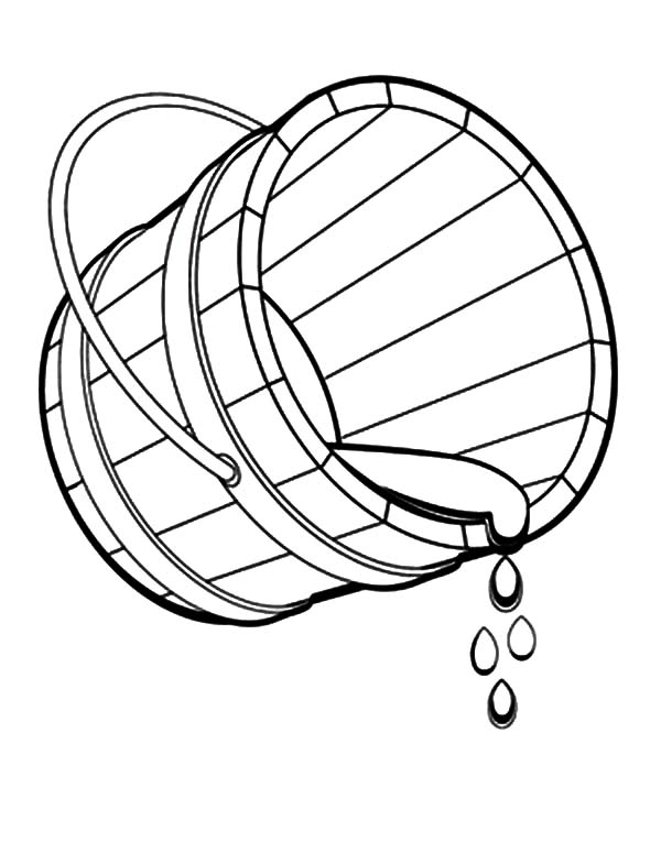 bucket spilling water coloring pages bucket spilling