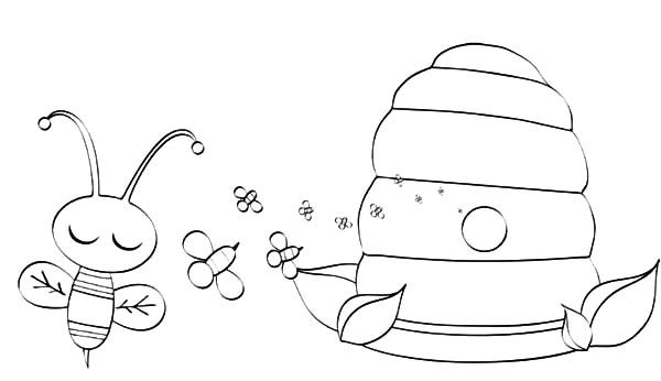 bumble bee bumble bee honey factory coloring pages