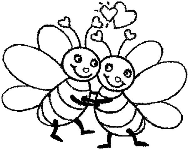 bumble bee bumble bee hugging tight coloring pages