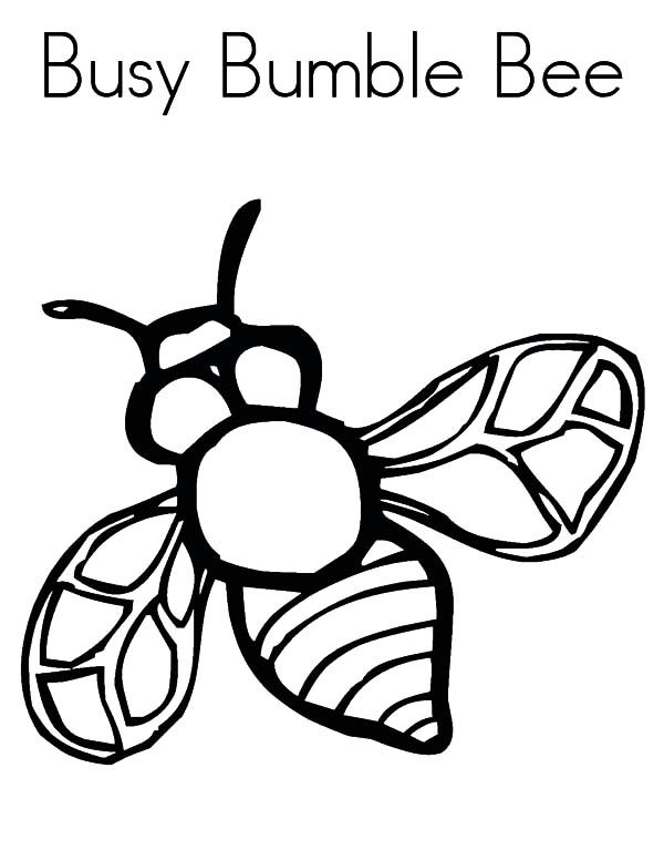 bumble bee busy bumble bee coloring pages