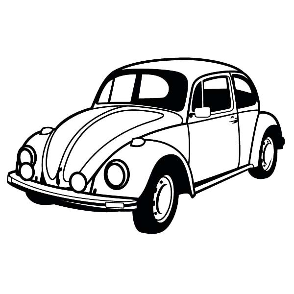classic beetle car coloring pages best place to color