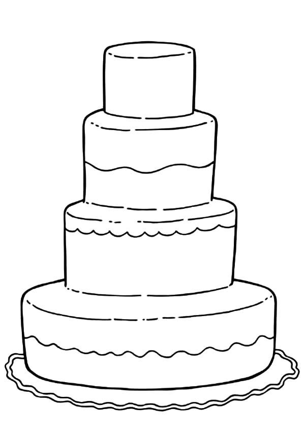 printable wedding cake coloring pages cooloring com