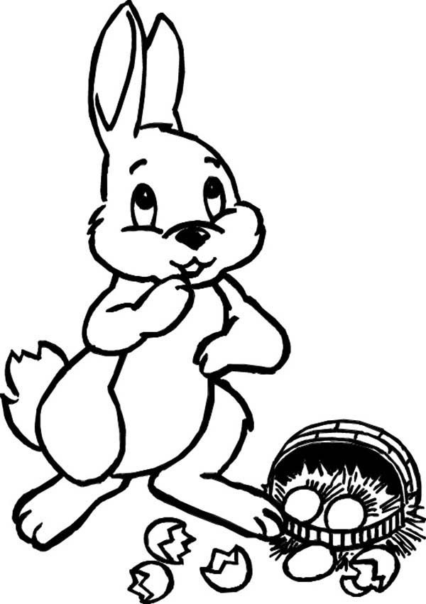 easter bunny broken egg coloring pages best place to color