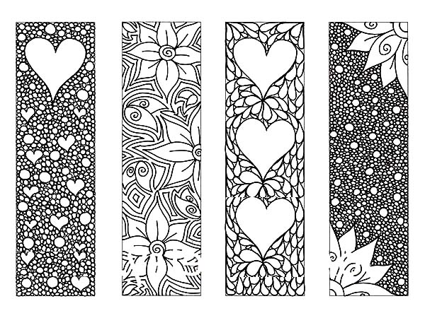pages full of flower bookmarks coloring pages best place to color