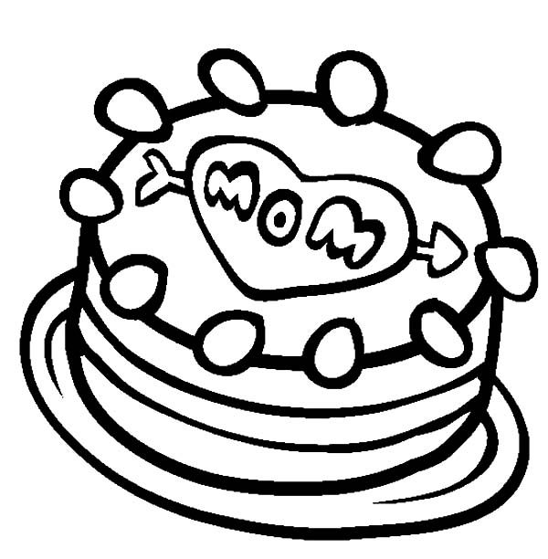 Cake Coloring Pages Great Best Mom Coloring Pages Love My Mom