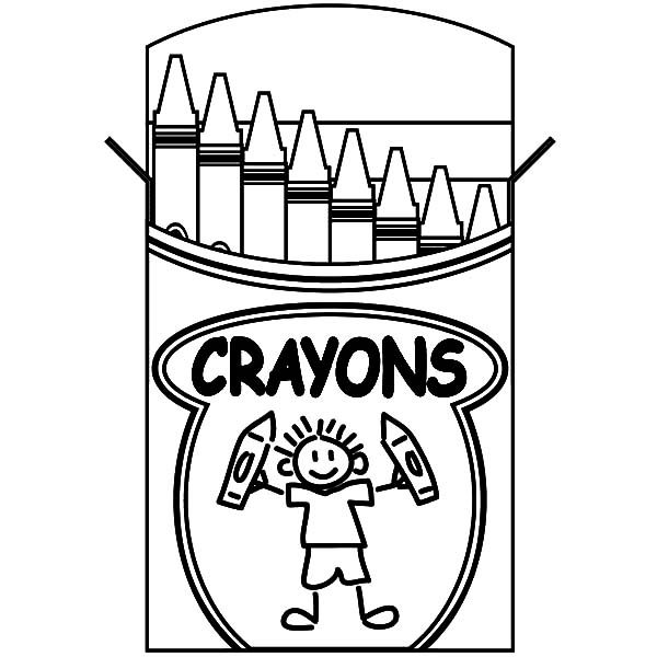 Green crayon coloring page pictures to pin on pinterest for Color crayons coloring pages