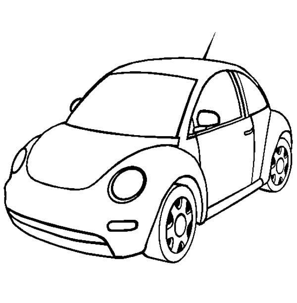 cars to color new volkswagen beetle car coloring pages best place