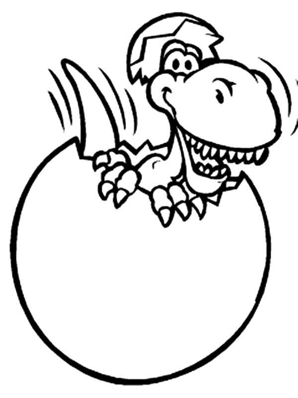 Coloring Page Dinosaur Gallery Of Broken Egg Scary Dinosaurus