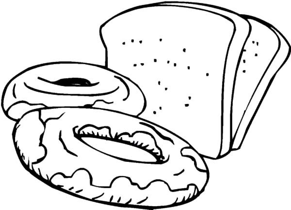 slices of bread and sweets coloring pages  best place to