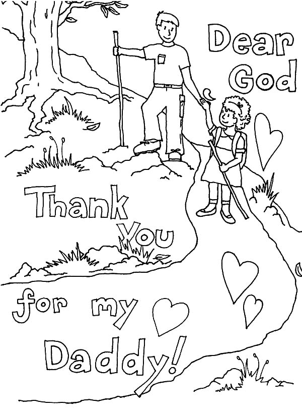 dad thank you god you give me the best dad coloring pages thank you