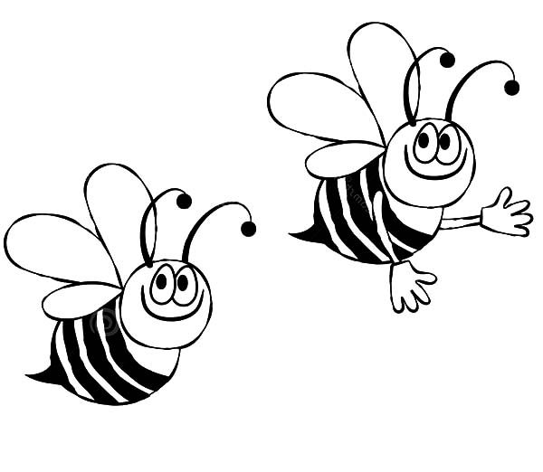 bumble bee two bumble bee looking for flowers coloring pages